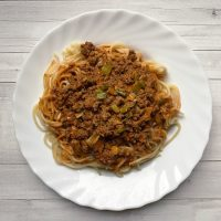 Spaghetti Bolognese ohne Tomaten
