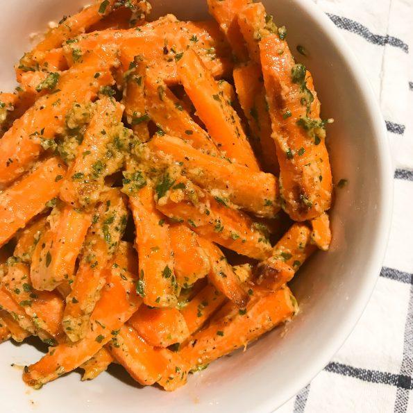 Cremige Karotten vegan