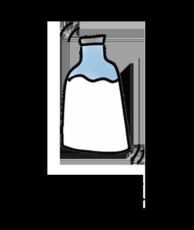 Milchglas plant milk