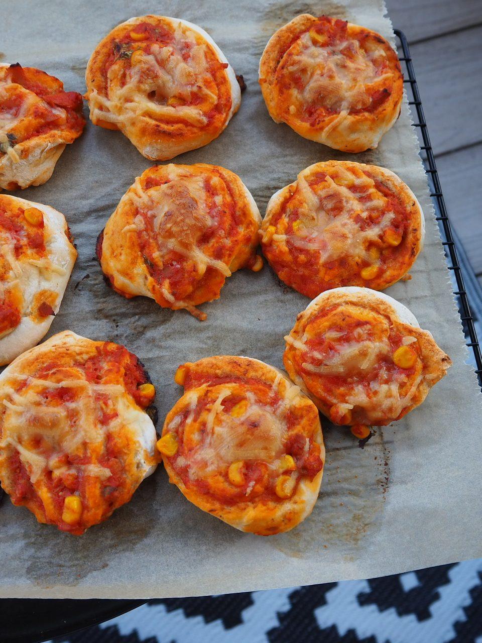 Schneller glutenfreier Pizzateig Pizzaschnecken